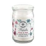 Florals Collection - 18 oz Apothecary Jar - Apricot Coconut Wax