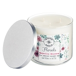 Florals Collection - 18 oz 3 Wick Tumbler Jar - Apricot Coconut Wax
