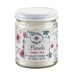 Florals Collection - 9 oz Straight Side Jars - Apricot Coconut Wax