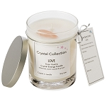 Rose Quartz Crystal - LOVE- Energy Candle - Classic 13 Ounce