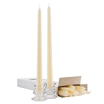 Box of 12 Ivory Taper Candles - 12 Inch Candles