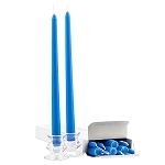 Box of 12 Blue Taper Candles - 12 Inch Candles