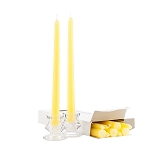 Box of 12 Yellow Taper Candles - 10 Inch Candles