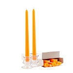 Box of 12 Orange Taper Candles - 10 Inch Candles