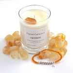 Citrine Crystal HAPPINESS Energy Candle and Bracelet Set