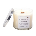 Tiger Eye Crystal - PROSPERITY - Energy Candle - Jumbo 18 Ounce 3 Wick
