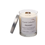 Tiger Eye Crystal - PROSPERITY - Energy Candle - Baby 6.5 Ounce