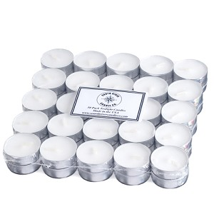 50 Unscented Tealight Candles made in the USA