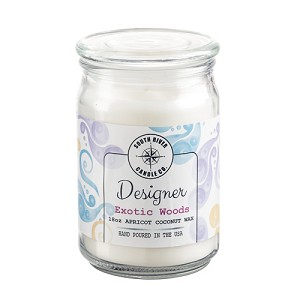Designer Collection - 18 oz Apothecary Jar - Apricot Coconut Wax