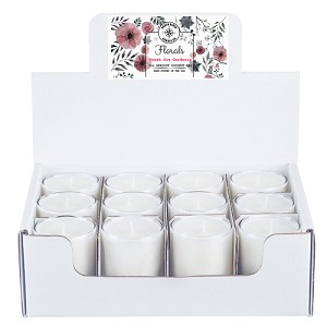 Florals Collection - 3 oz Tumbler Jars - 12 Pack Display Box