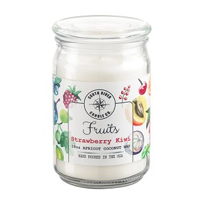 Fruits Collection - 18 oz Apothecary Jar - Apricot Coconut Wax