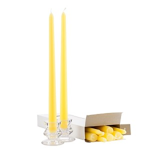 Box of 12 Yellow Taper Candles - 12 Inch Candles