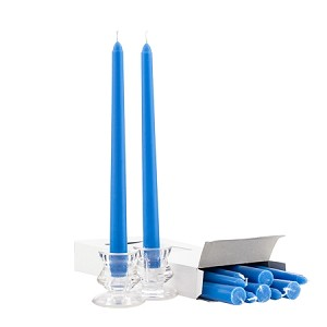 Box of 12 Blue Taper Candles - 10 Inch Candles