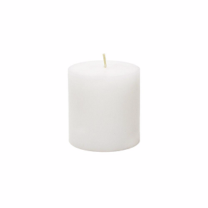 Set of 12 Pure White Solid 3x3 Pillar Candles