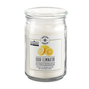 Odor Eliminator 18 oz Jar Candle - Citrus Fresh - Apricot Coconut Wax