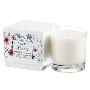 Florals Collection - 10 oz Tumbler Jars in White Box - Apricot Coconut Wax